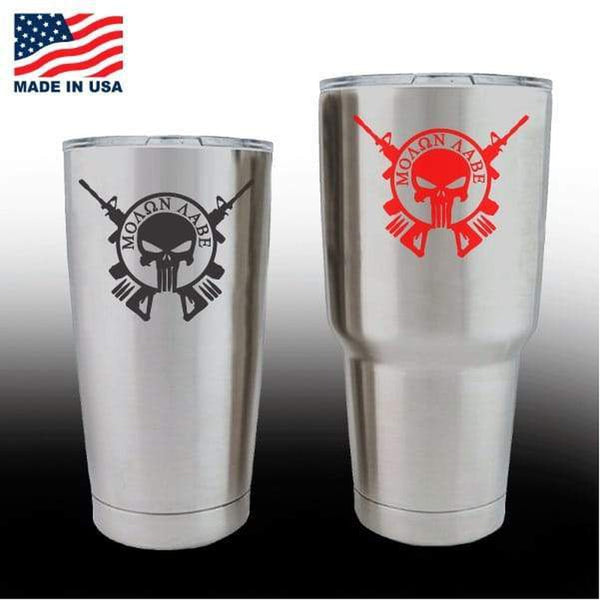 Yeti Decals – Cup Stickers – Molon Labe Come Take Them
