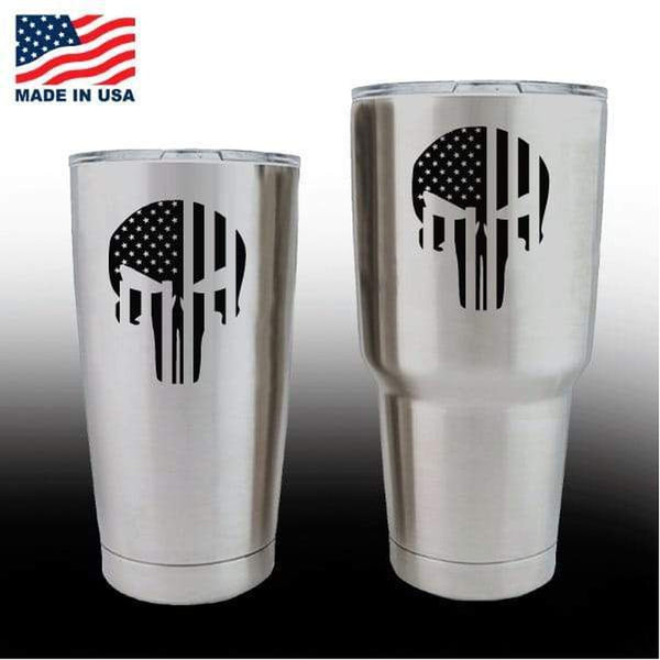 Yeti Decals – Cup Stickers – Punsiher Punisher Skull Flag