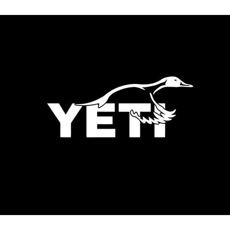 Yeti Goose Hunting Window Decal Sticker