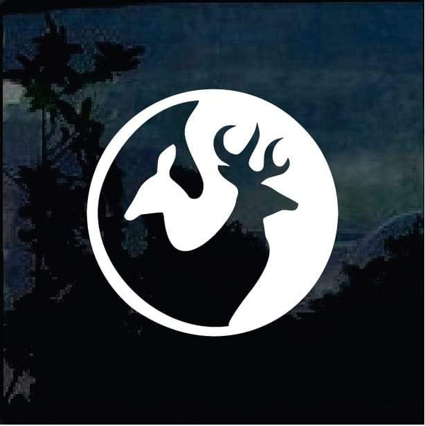 Yin Yang Deer Head Hunting Window Decal Sticker