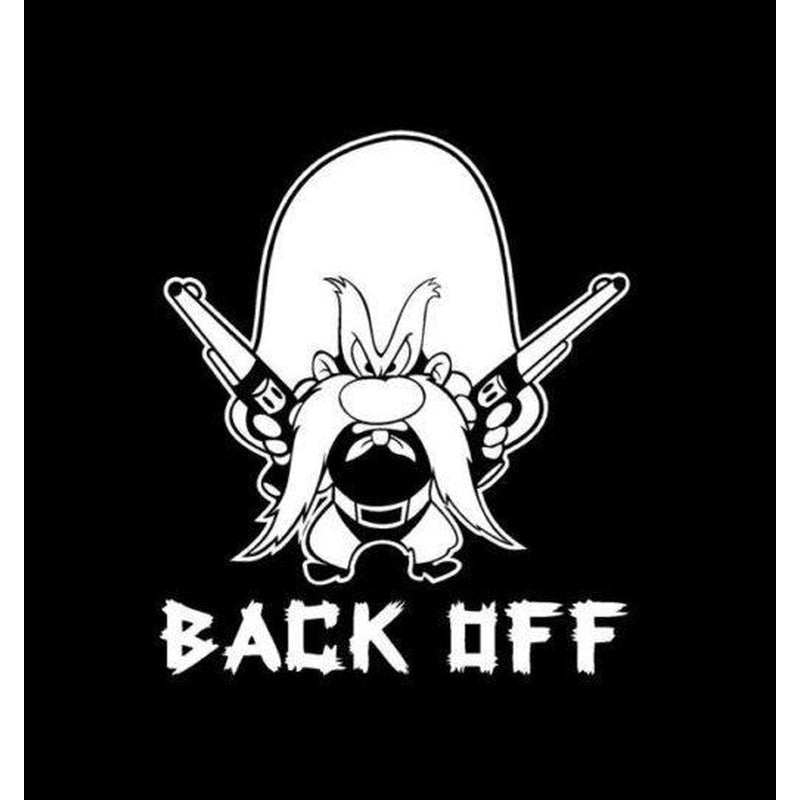 Yosemite Sam Back Off Window Decal Sticker