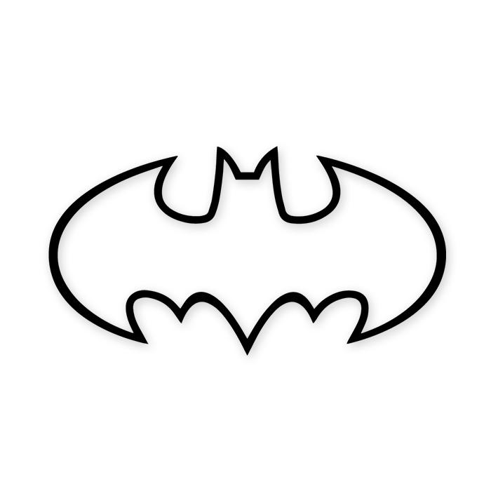 Batman 1989 Movie Symbol Outline Decal Sticker