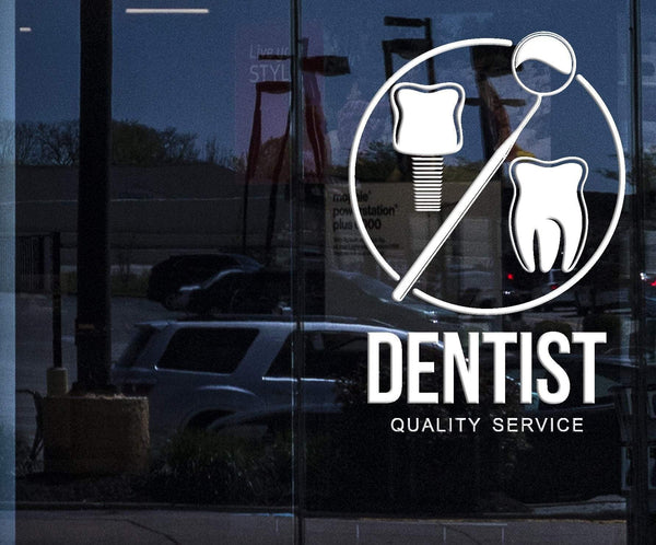 Window Wall Stickers Dentist Service Dental Clinic Poster