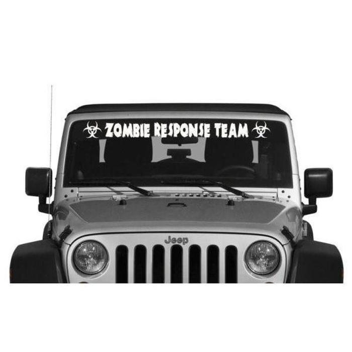 Zombie Response Team Vinyl Window Windshield Banner Decal Sticker