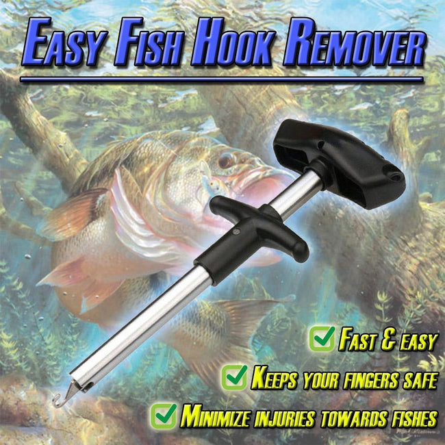T shape Easy Fish Hook Fast Remover Fishing Tool Minimizing The Injuries Tackle