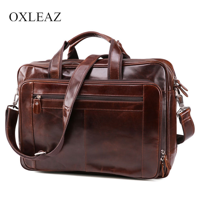 Mens Vintage Genuine Leather Overnight Travel Gym Weekend Bag Duffle Carry On