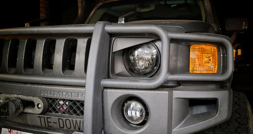 Hummer H3 Angry Eyes Grill Inserts