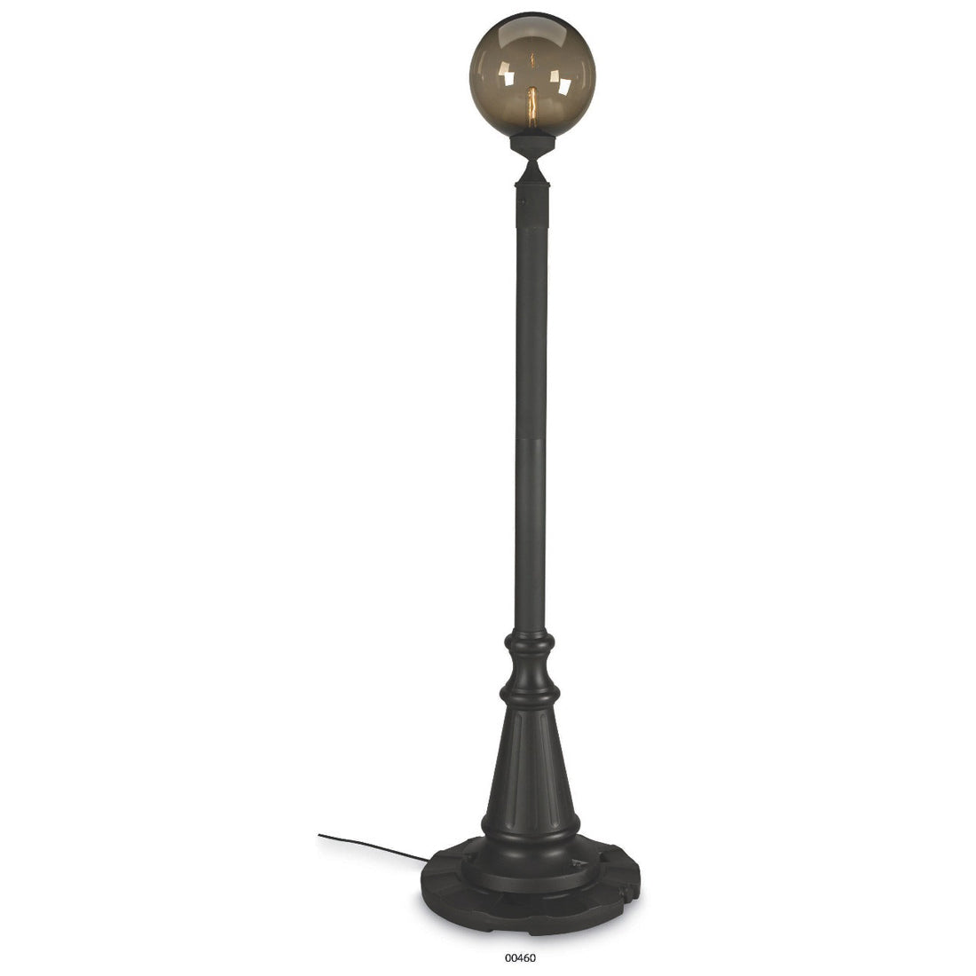 European 00460 Single Bronze Globe Lantern Patio Lamp