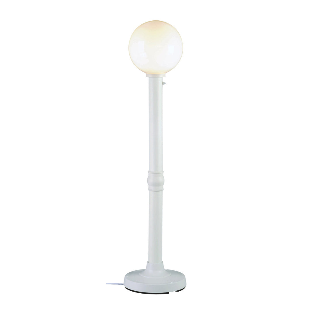 "Moonlite 64"" Floor Lamp 08711 with 3"" white tube body and white globe"