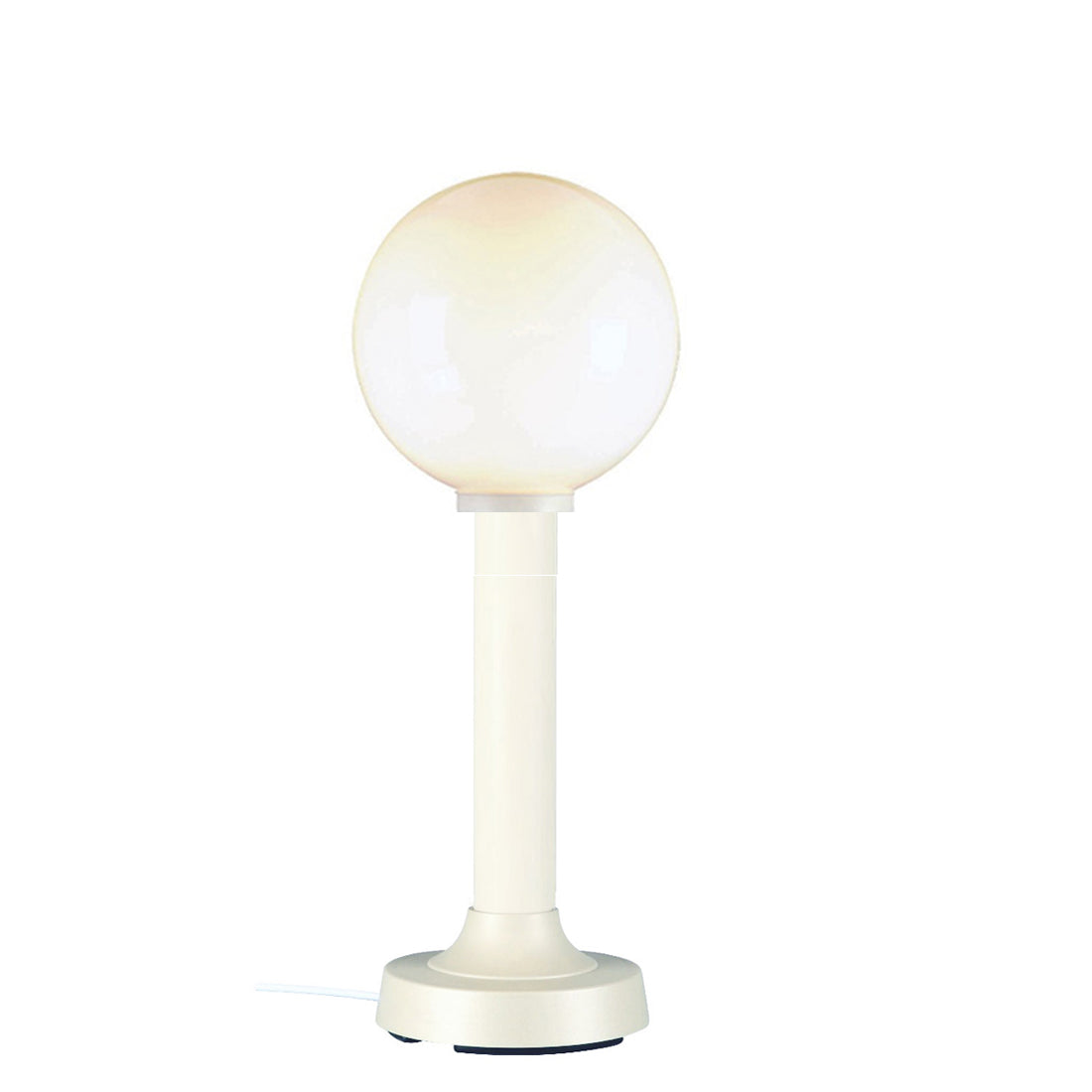 "Moonlite 35"" Table Lamp 08721 with 3"" white tube body and white globe"