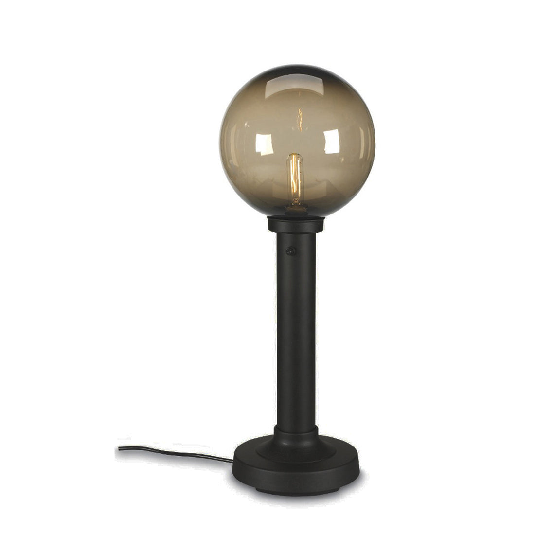 "Moonlite 35"" Table Lamp 09720 with 3"" black tube body and bronze globe"