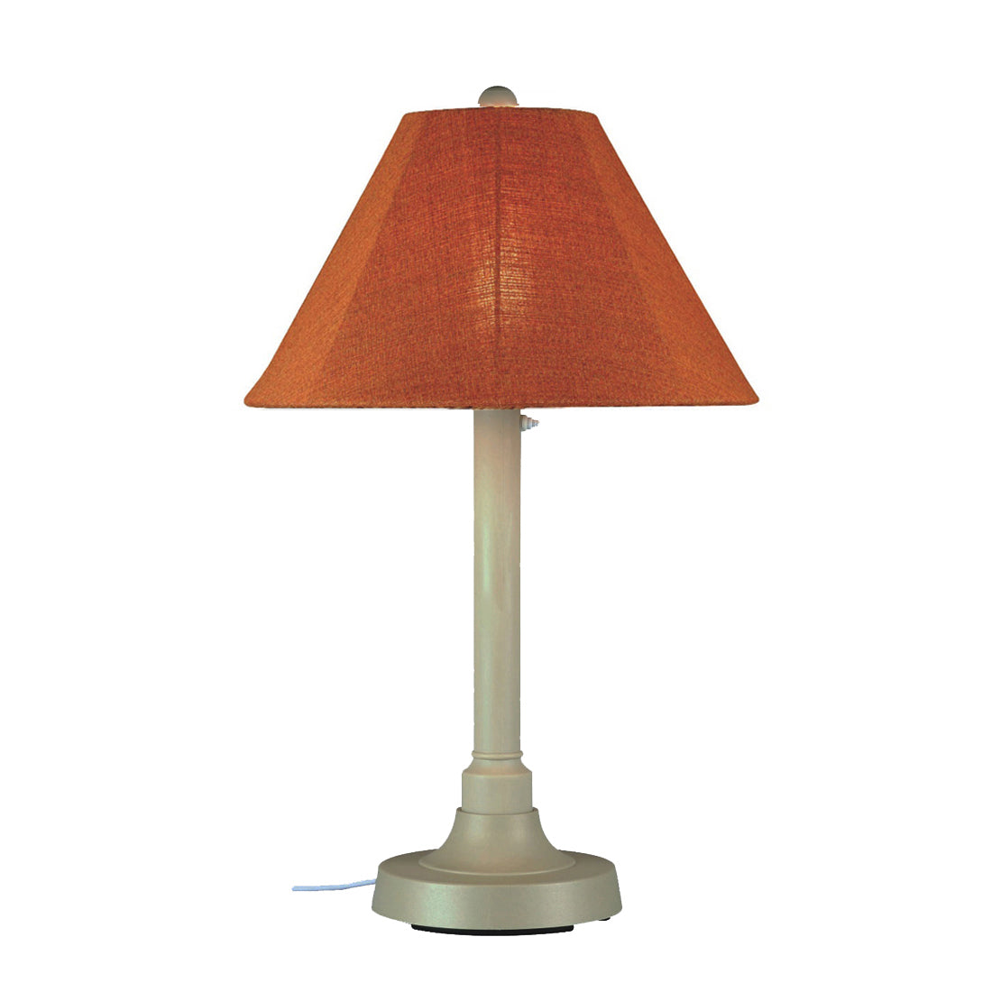 "San Juan 34"" Table Lamp 30115 with 2"" bisque body and chili linen Sunbrella shade fabric"