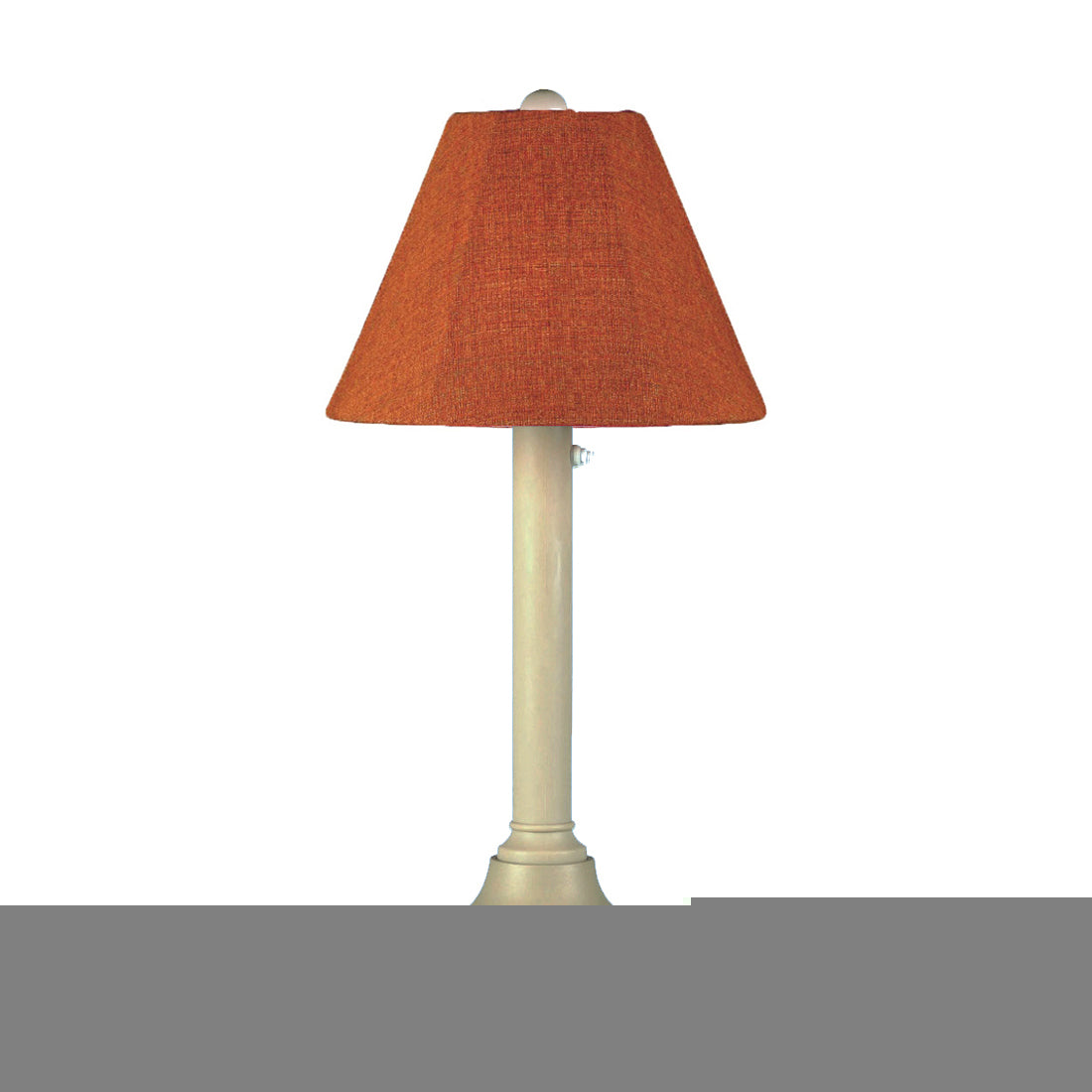 "San Juan 30"" Table Lamp 30125 with 2"" bisque body and chili linen Sunbrella shade fabric"