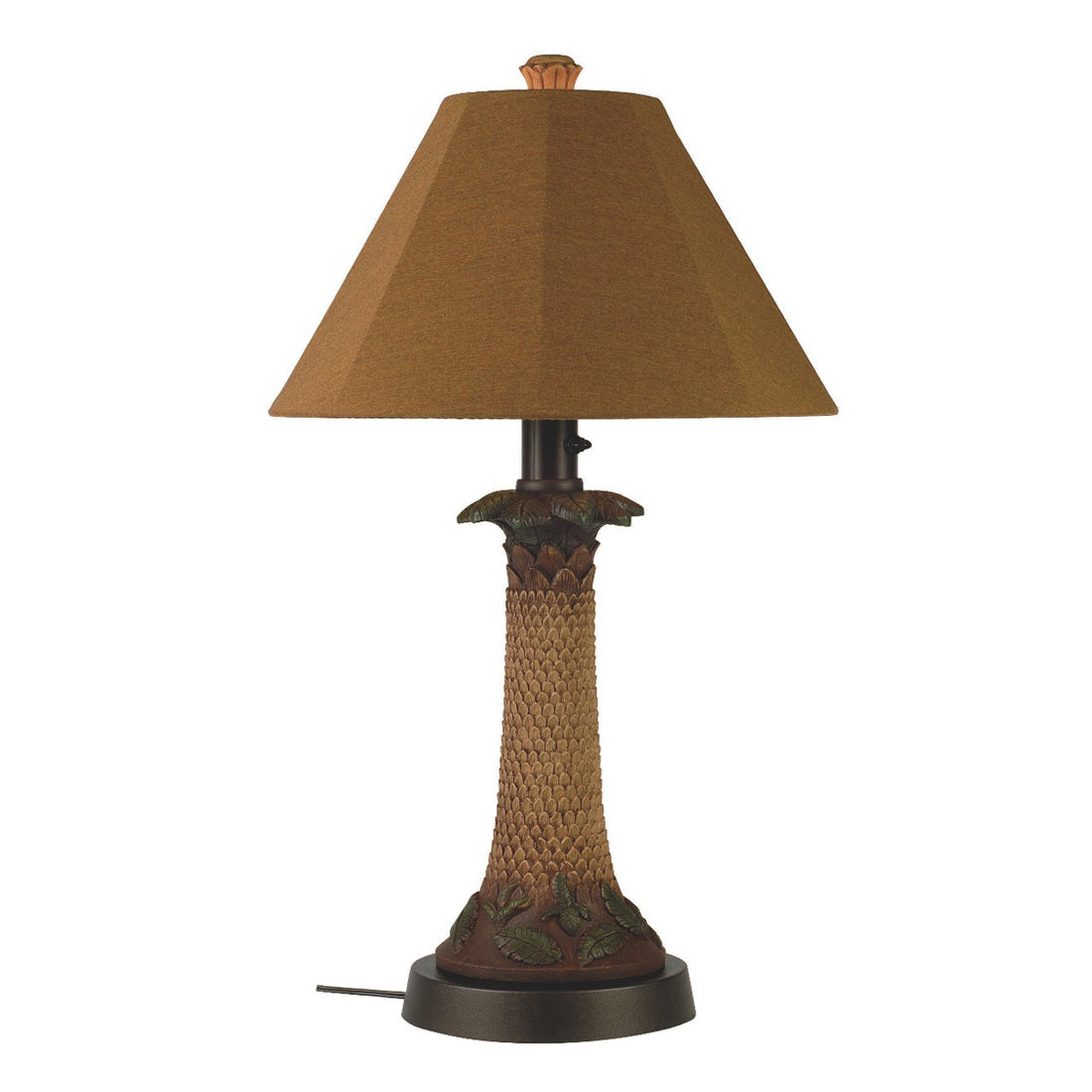 Palm Outdoor Table Lamp 36957 with Teak Sunbrella Shade