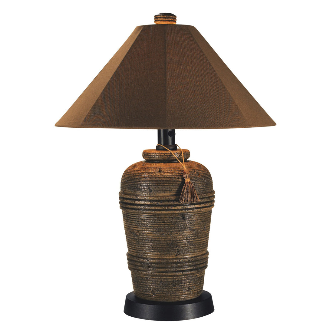 Canyon Outdoor Table Lamp 51910 with Nutmeg Sunbrella Shade