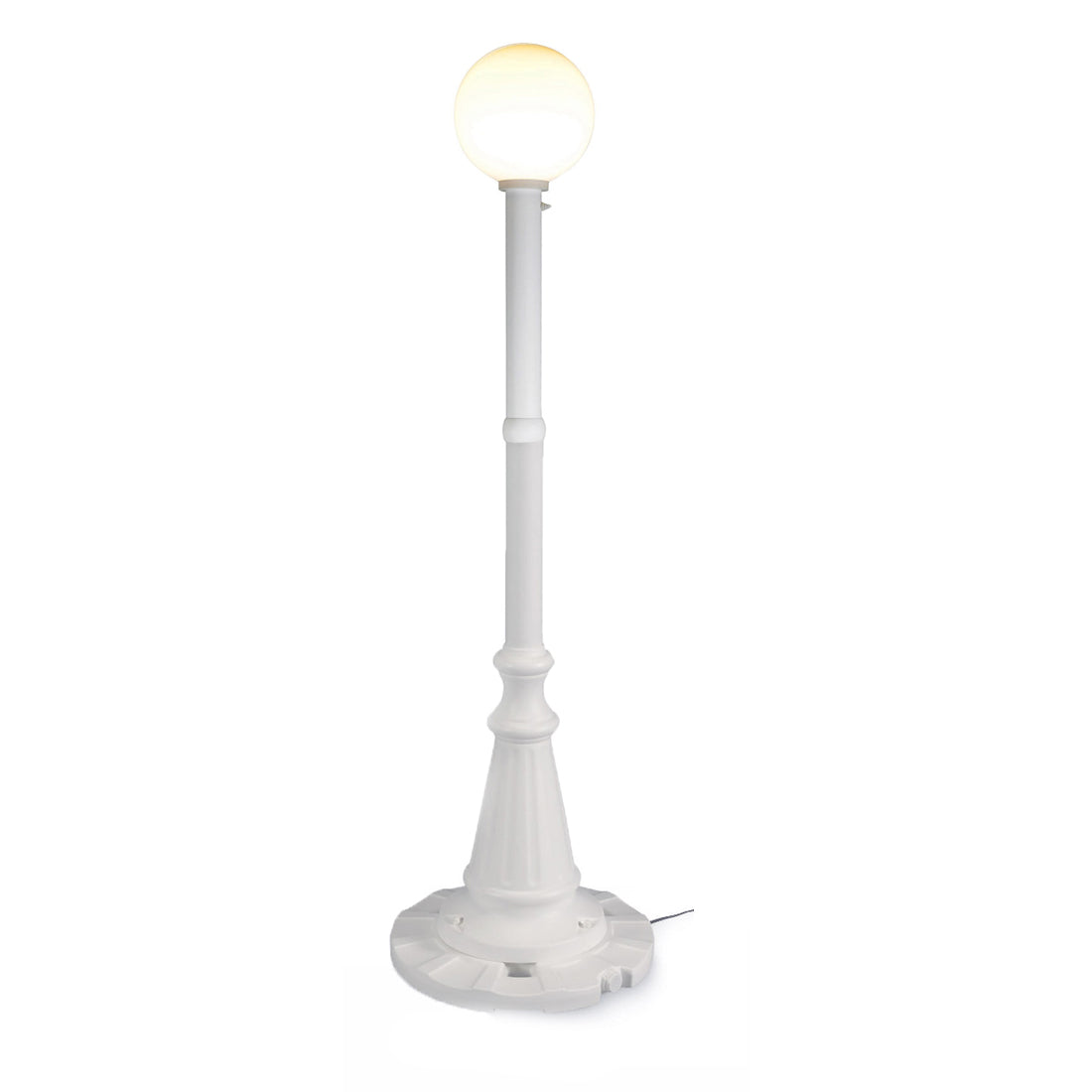 Milano 69001 - White with White Globe Lantern