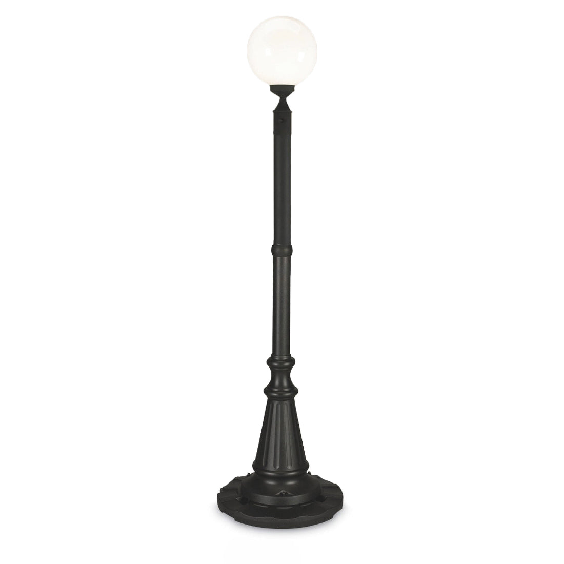 Milano 69100 - Black with White Globe Lantern