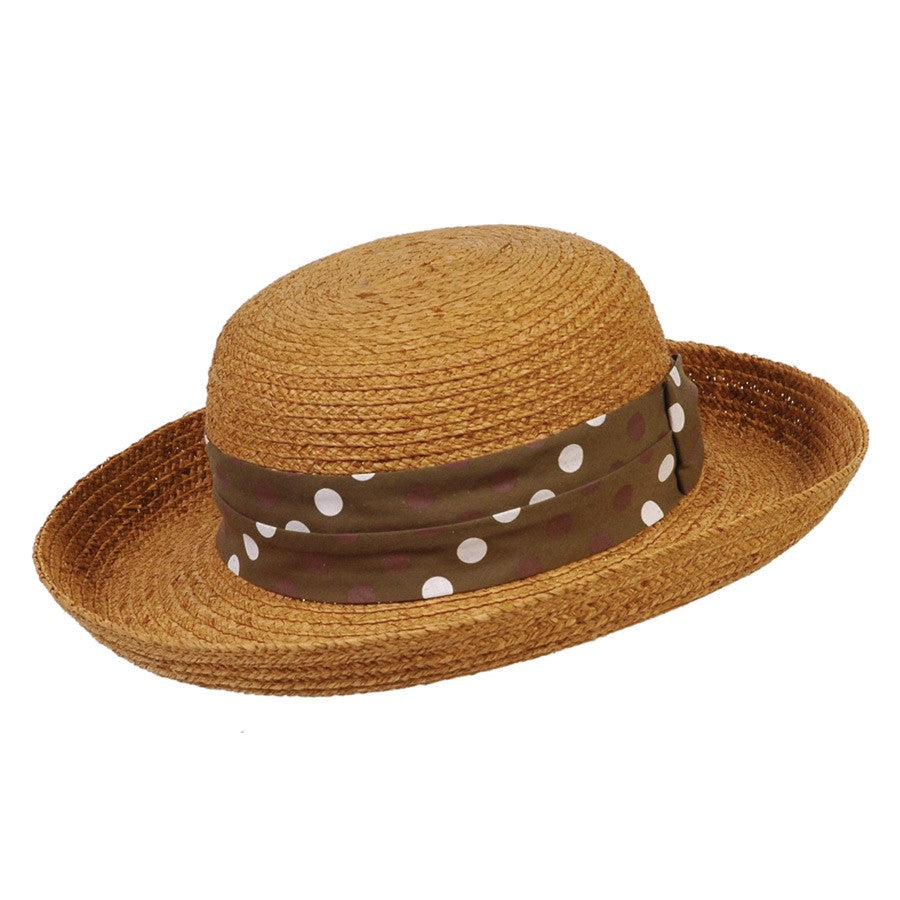 Polk-A-Fun Ladies Raffia Summer Hat