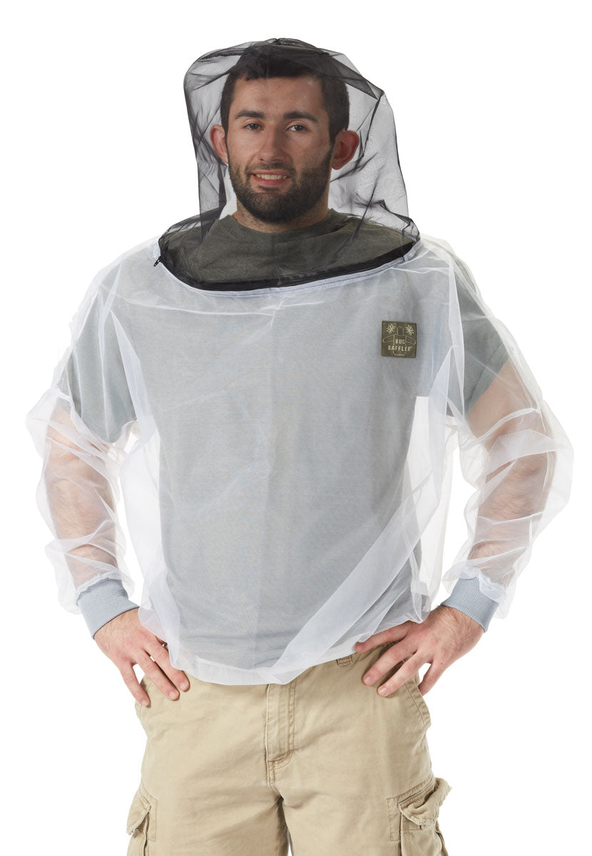 Insect Protective Hooded SHIRT-Patented mesh for Great protection from Ticks, Mosquitoes, Bees and Bugs,