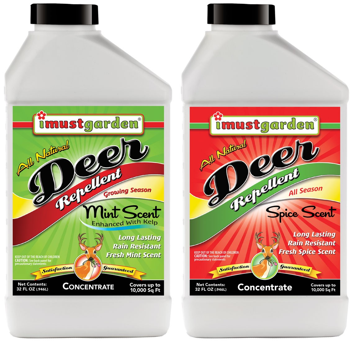 (32 oz) Deer Concentrate Duo 32oz, One 32oz Mint Scent Concentrate , One 32oz Spice Scent Concentrate