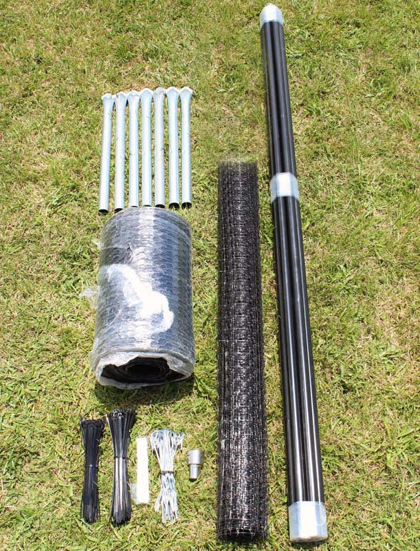 7.5' x 100' Heavy Duty C Flex Deer Fence Kit With Rodent Protection