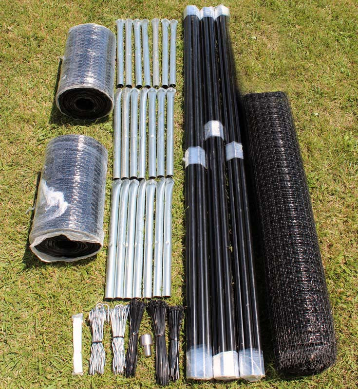 7.5' x 300' Heavy Duty C Flex Deer Fence Kit With Rodent Protection