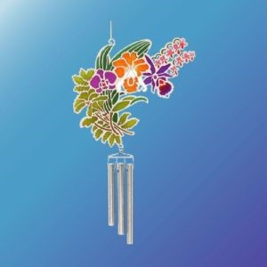 (Set of 2) ORCHIDS EPOXY WIND CHIME
