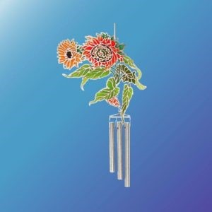 (Set of 2) SUNFLOWERS EPOXY WIND CHIME
