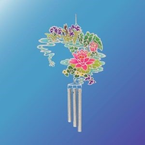 (Set of 2) WATER LILIES EPOXY WIND CHIME