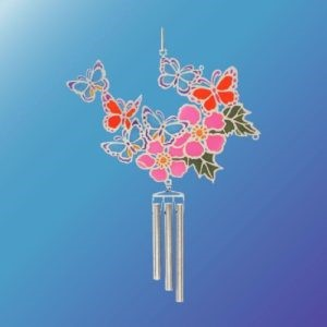(Set of 2) BUTTERFLIES/FLOWERS EPOXY WIND CHIME