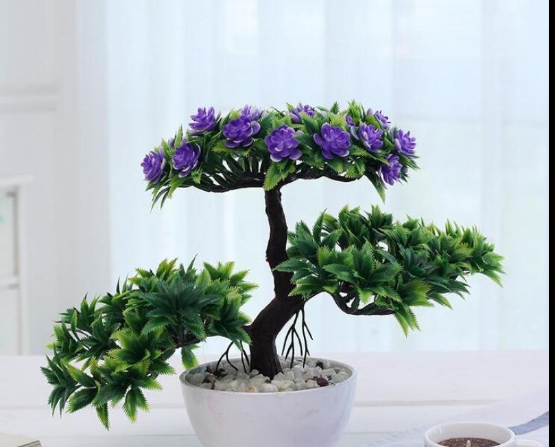 Gorgeous Bonsai Tree with very Attractive Pot- Excellent Gift.. Looks Almost real, without the hassle of Maintenance and dying (Artificial plant)