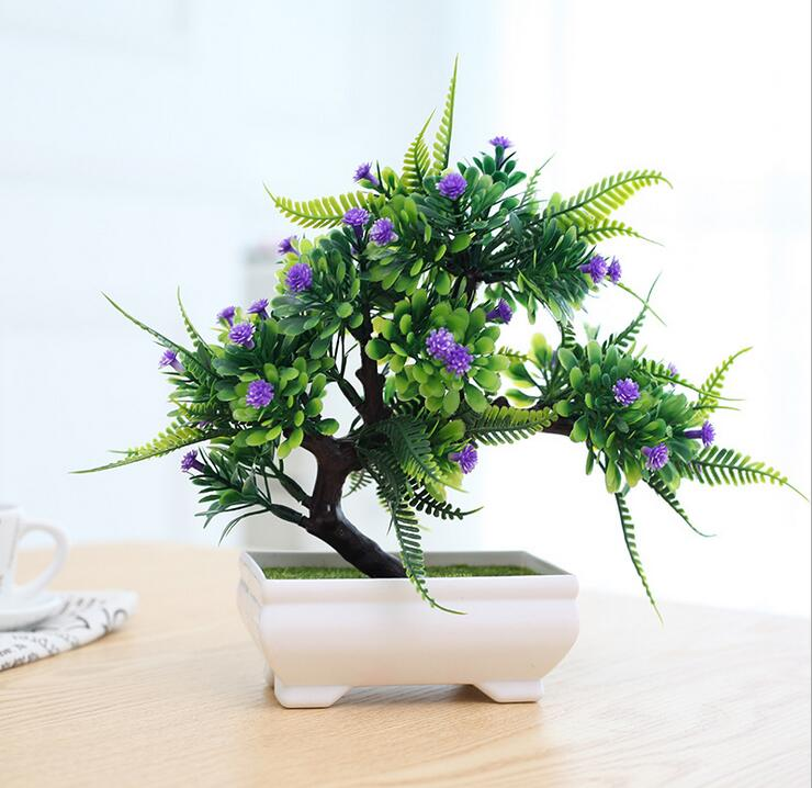 GORGEOUS BONSAI WITH VERY ATTRACTIVE POT  -Excellent  Gift.. Looks Almost real, without the hassle of Maintenance and dying (Artificial plant)