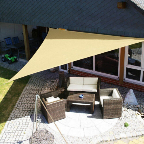 Sun Shelter Triangle Sunshade Protection Outdoor Canopy Garden Patio Pool Shade Sail Awning Camping Shade Cloth Large Waterproof