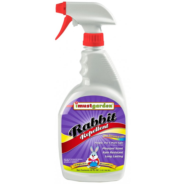 (32 oz) Rabbit Repellent -32oz Ready-to-Use , I Must Garden Deer Repellent offers superior year-round protection against deer damage. While totally harmless to deer, our deer repellent will keep deer from eating flowers, plants, shrubs