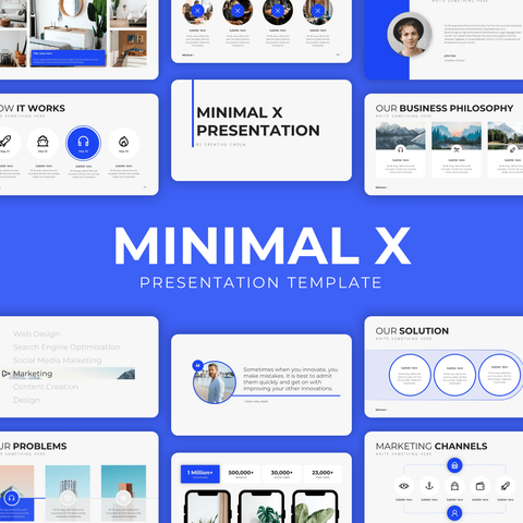 Minimal X - Presentation Template v2.0 (Unlimited Users)