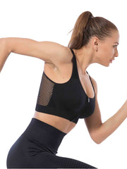 Active Alie Beyond Sports Bra - Black, Side View