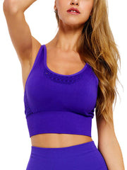 Active Alie Elite Sports Bra - Purple, Front View