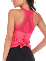 Active Alie Excel Tank Top - Pink, Back View