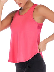Active Alie Excel Tank Top - Pink, Front View
