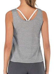 Active Alie Motion Tank Top - Gray, Back View
