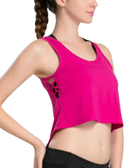 Active Alie Pulse Crop Top - Pink, Side View