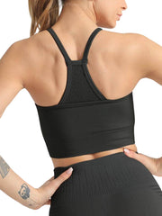 Active Alie Thrive Sports Bra - Black, Back View