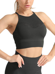 Active Alie Thrive Sports Bra - Black, Front View