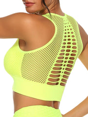 Active Alie Transcend Sports Bra - Yellow, Back View