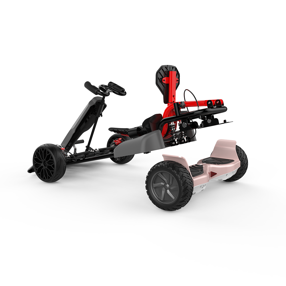 8-5-inch-off-road-go-kart-hoverboard-bundle-grey-gokart-rose-gold-hoverboard