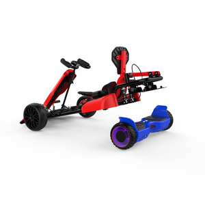 "Hyper GOGO Red Go Kart with 6.5"" Off Road Blue Hoverboard Bundle"