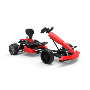 "Off Road Hoverboard Go Kart Combo for Kids and Adults - Hyper GOGO Red Go Kart Kit with 8.5"" Off Road Hoverboard Bundle"