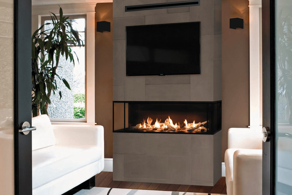 Valor 2200JN - 3 Sided Fireplace - Showroom Model