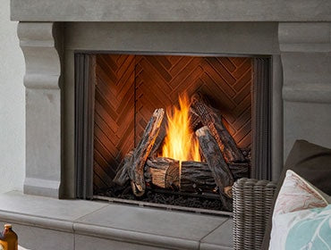 Heat & Glo Courtyard Gas Fireplace - Outdoor