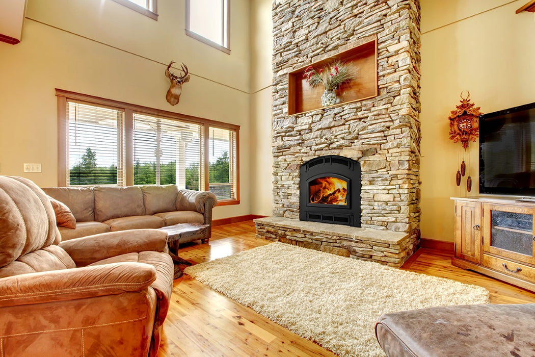 Quadra-Fire Pioneer Wood Fireplace